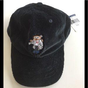 NWT Ralph Lauren Polo Bear Corduroy Baseball Hat